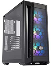 Cooler Master MasterBox MB511 RGB ATX Mid-Tower W/Front Mesh Ventilation, Front Side Mesh Intakes, Tempered Glass Side Panel & 3X 120mm RGB Fans w/RGB Controller