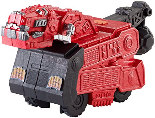 Dinotrux Power Trux Ty Rux Press and Go Motorised Vehicle Truck Action Toy Red Dinosaur 14cm