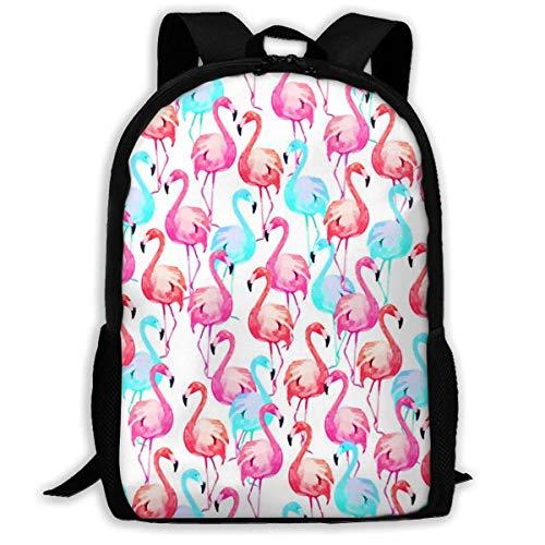 XCNGG Erwachsenen-Vollformat-Druckrucksack Lässiger Rucksack Rucksack Schultasche Colorful Flamingo Patterns Large Capacity Travel Computer Backpack, Adult Printed Backpack, Portable Multifunctional S