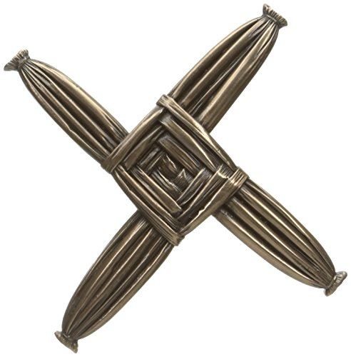 Wild Goose Brigid Cross Wall Hanging 6 1/4 Inches Tall by 6 1/4 Inches Wide Resin Cast Coated in Bronze Ready to Hang Housewarming Made in Ireland