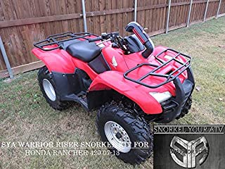 2007-13 Rancher 420 Warrior Riser Snorkel kit Without LED Light By SYA 0039