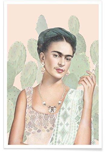 """JUNIQE® Frida Kahlo Poster 20x30cm - Design """"Couture Mexicaine"""" entworfen von Nettsch"""