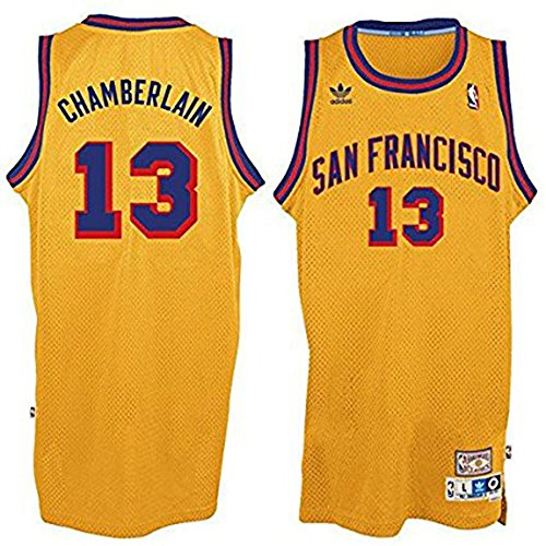 Wilt Chamberlain #13 San Francisco Warriors Adidas Hardwood Classics Youth Jersey (Medium)