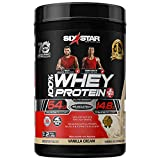 Whey Protein Powder | Six Star Whey Protein Plus | Whey Protein Isolate & Peptides | Lean Protein Powder for Muscle Gain | Muscle Builder for Men & Women | Vanilla, 2 lbs (package may vary)