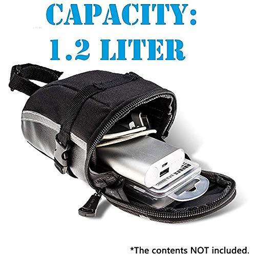 Bike Bag Under Saddle Bicycle Repair Tool Kit Bag MTB Bike Saddle Bag Waterproof Cycling Wedge Pack Bag Under Seat Bike Tail Bag (Bag Kit)