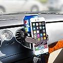 BESTEK Multifunktion Auto Getränkehalter/Becherhalter Handyhalterung geeignet für alle Phone iPhone/Xiaomi/Samsung/Huawei usw, Lüftungshalterung für Kaffeebecher und Getränkedose, Tarnish