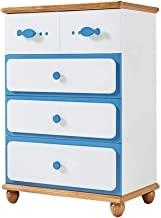Dresser Chests of Drawers Children's Room Bedroom Furniture Chest of Drawers Mediterranean Style Lockers (Color : Blue, Si...