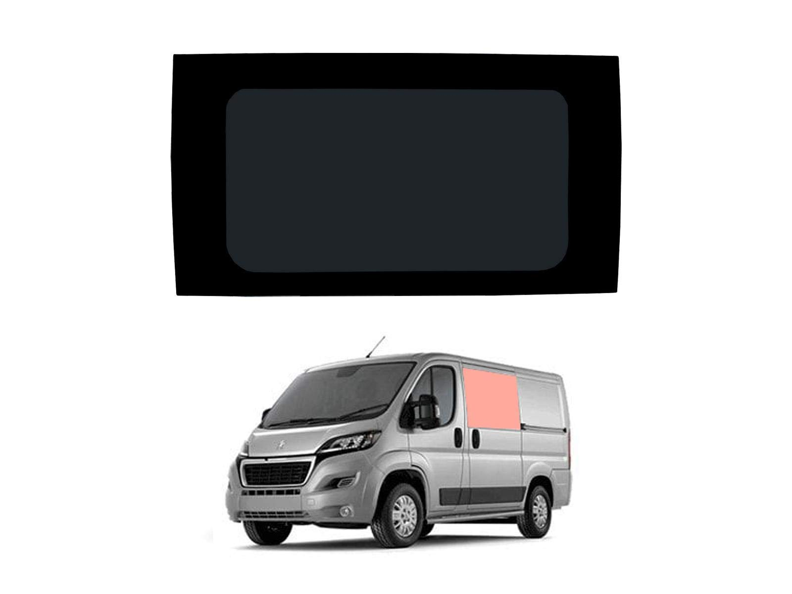Mano izquierda, tintado oscuro fijo ventana para puerta corredera Peugeot Boxer (2006 on) [L1H1]: Amazon.es: Coche y moto