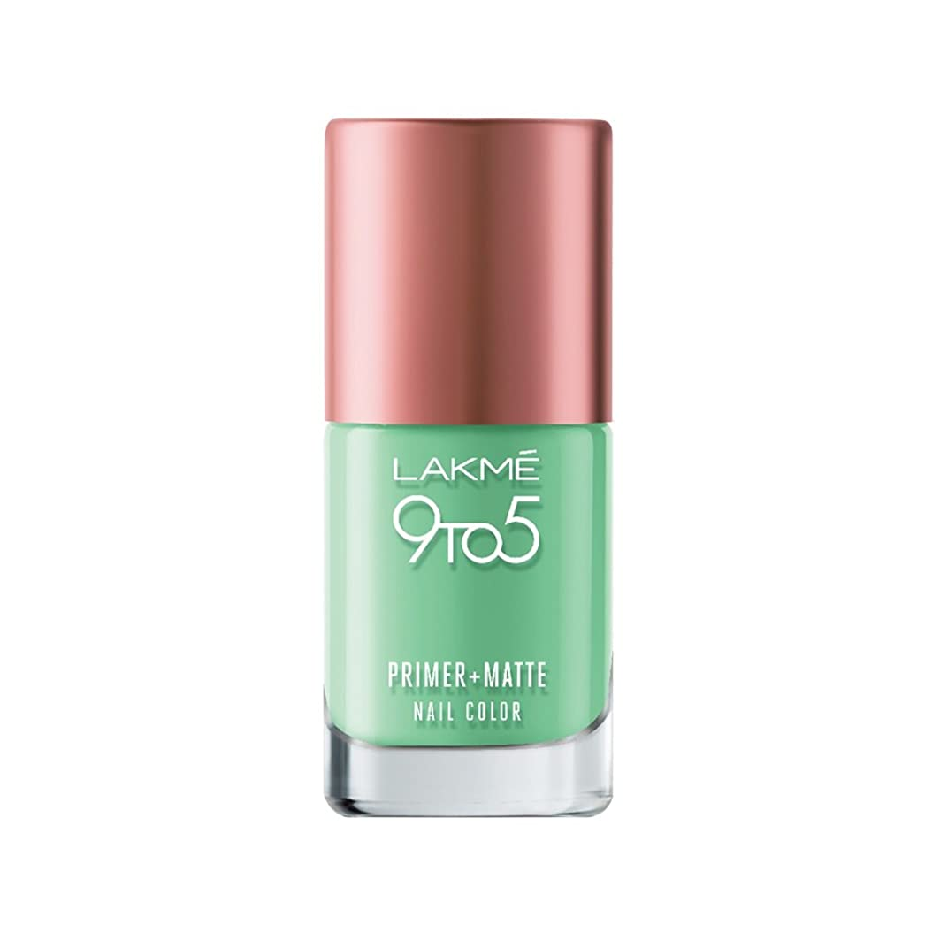 エリート味理論Lakme 9 to 5 Primer and Matte Nail Color, Green, 9ml