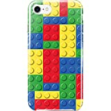 iPhone8 ケース ハードケース スマホケース lg001a ブロック デザイン (ブロックマルチ) [ZI:L](ジール)
