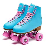 Goupsky Roller Skate Shoes for Women High-Top 4 Wheels Youth Quad...