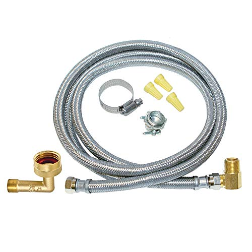 EZ-Flo 48336 Eastman Stainless Steel, 6 Ft Length, Universal Fit dishwasher installation kit
