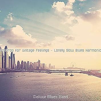 Backdrop for Vintage Feelings - Lonely Slow Blues Harmonica