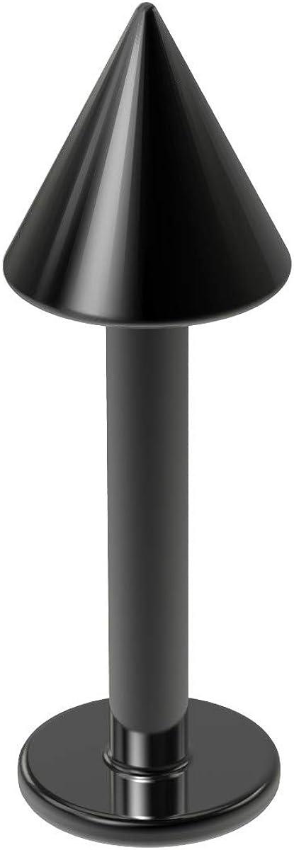 16g Implant-Grade G23 Titanium Labret Lip Stud Monroe Piercing Jewelry 8mm Flat Back Ring 4mm Spike