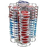 jjonlinestore- 52 cápsulas café DISCO T Soporte Bosch Tassimo Dispensador de cápsulas acero inoxidable giratorio Base Doble Capa