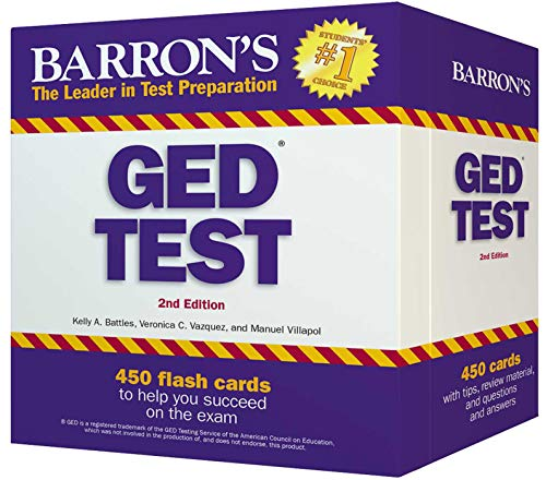 GED Test Flash Cards: 450 Flash Cards to Help You Achieve a Higher Score (Barron's Test Prep)