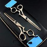 Juego de tijeras profesionales para cortar el cabello Juego de tijeras de peluquería de acero inoxidable Tijeras de adelgazamiento profesionales para hombres, mujeres, mascotas, salón en casa, corte d
