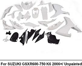 ABS Plastic INJECTION Unpainted White Motorcycle Fairing Bodywork Kit Fit For SUZUKI GSXR 600 GSX-R 750 2006 2007