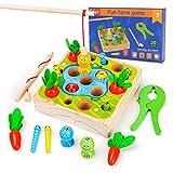 Juguete de madera para 1, 2, 3 años, niños y niñas, juguete...