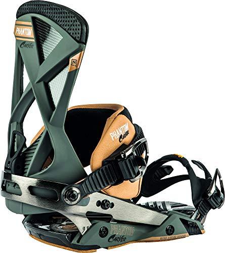 Nitro Snowboards Herren Phantom Carver '20 Premium Freeride Carving Carbon Bindung Snowboardbindung, Gunmetal, L