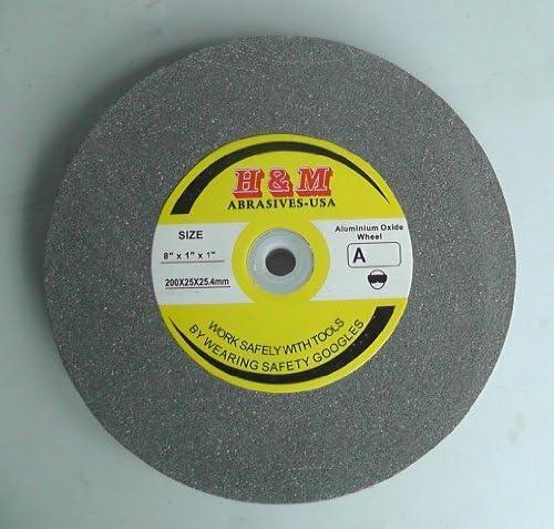 PFERD 61746 Bench Grinding Wheel 1 Thick 1 Arbor Hole 6 Diameter Aluminum Oxide 4140 Maximum RPM 60 Grit