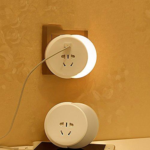 Veilleuse plug-in led lumière contrôle économie d'énergie bébé alimentation tête de lit créative rêve chambre induction prise de lumière