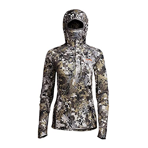 SITKA Gear Gear Women's Hunting Breathable Next-To-Skin Fleece Fanatic Hoody With Face Mask, Elevated II, Medium