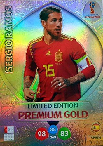ADRENALYN XL FIFA WORLD CUP 2018 RUSSIA – SERGIO RAMOS PREMIUM GOLD LIMITED EDITION TRADING CARD – ESPAÑA