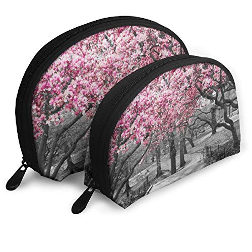 Cherry Blossom Trees Art Pouch Zipper Toiletry Organizer Travel Makeup Clutch Bag Portable Bags Clutch Pouch Storage Bags