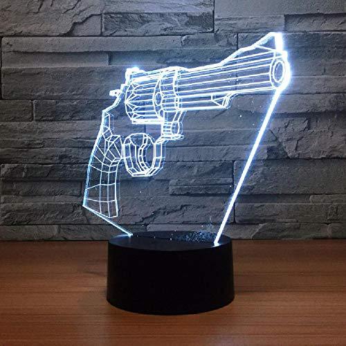 Pistola 3D Luces De Noche Pequeñas Regalo Creativo Toque Colorido Accesorios De Iluminación 3D Habitación De Niños Lámparas De Luces Led Para Niños