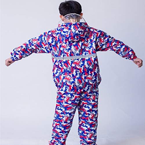 LSLS Raincoat Raincoat Children Raincoat Boys And Girls Separate Student Raincoat Rain Pants Suit Raincoat Raincoat Double Rain Poncho (Color : C, Size : X-Large)