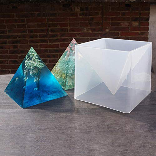 sanguiner 3D Silikonform Super Pyramide 15 cm DIY Ornament Epoxy Farbe Feine Form Gips Handwerk Dekoration Form