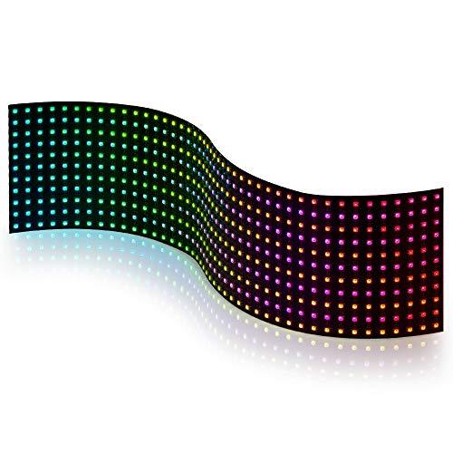 BTF-LIGHTING WS2812B 11x44 Matrix Panel insgesamt 484 Pixel Digital flexibel einzeln adressierbar Volle Traumfarbe Beleuchtung DC5V