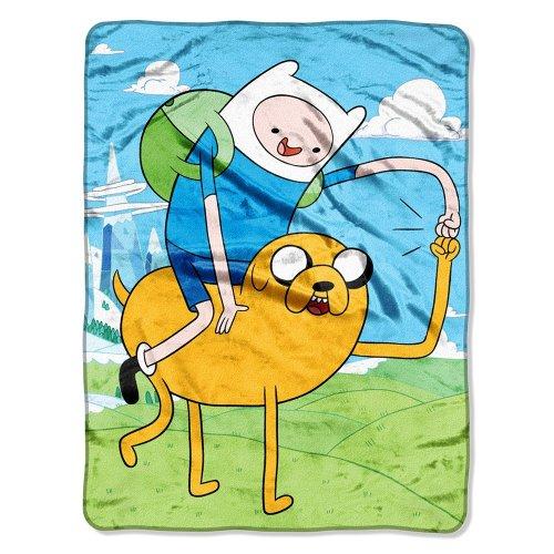 "The Northwest Company Adventure Time, Fist Pump Micro Raschel Throw, 46"" x 60"""