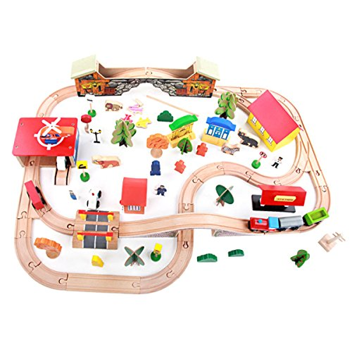 Best Buy! ZFF Children's Toys Beach Toys 89 Pieces Deluxe Track Train Sets Table Games Children Toys...