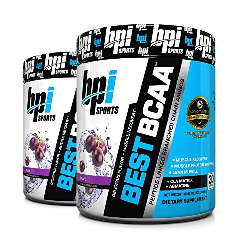 BPI Sports Best BCAA Amino Acids for Muscle Growth and Recovery (2-Pack) (Grape)