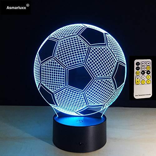 Illusionsfußball-Fernbedienung oder Notensteuertabellennachtlichtfarbnotenlichtkinderfamilienurlaub