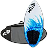 Slapfish Skimboards - Fiberglass & Carbon - Riders up to 200 lbs - 48' with Traction Deck Grip - Kids & Adults - 4 Colors (Blue + Board Bag)