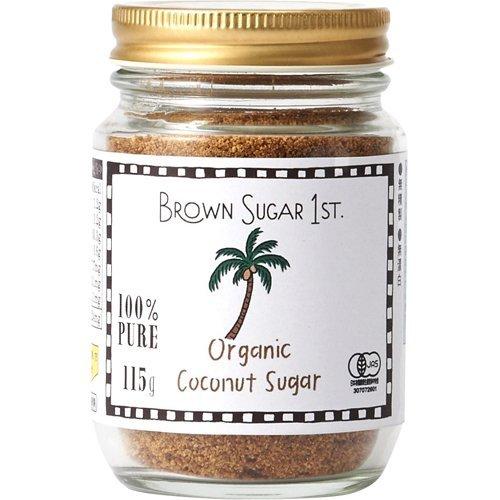 オーガニック ココナッツシュガー 115g 瓶タイプ (有機 化学調味料無添加 100% 天然 ブラウンシュガーファースト)