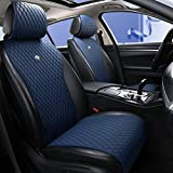 Blue Seat Covers Auto Seat Cushion Covers Leather Universal Seat Covers 2/3 Covered 11PCS Fit Car/Auto/Suv (A-Dark blue) -  Haihong