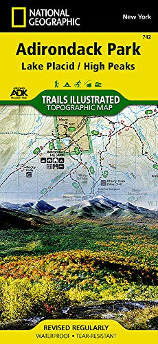 Compare Textbook Prices for Lake Placid, High Peaks: Adirondack Park National Geographic Trails Illustrated Map 742 2019 Edition ISBN 0749717011564 by National Geographic Maps