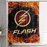 Lucky Star Flash Logo Shower Curtain Waterproof and Splash Proof Home Bathroom