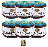 Lion Brand Mandala Yarn - 6 Pack with Pattern (Sphinx)