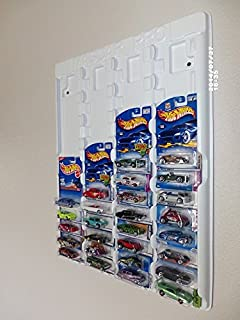 Mascar Pro Hotwheels Matchbox 1/64 scale Display case White with Clear Snap-On Dust Cover for up to 52 cars …
