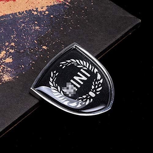 DMKJ Etiqueta Engomada Insignia del Emblema Metal Coche Calcomanías Decorativas para Mini para Cooper JCW One Countryman Clubman F55 R60 F60 Accesorios Estilo Coche (Talla : 3)