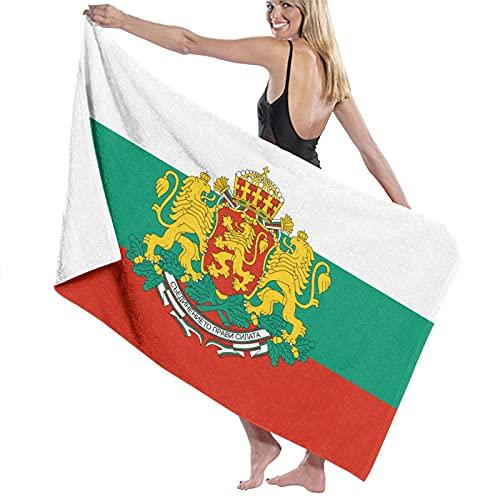 asdew987 Toalla de playa con logotipo de la bandera de Bulgaria, juego de toallas de baño, toallas de baño, toalla de piscina, toalla de viaje y baño 80 cm x 130 cm