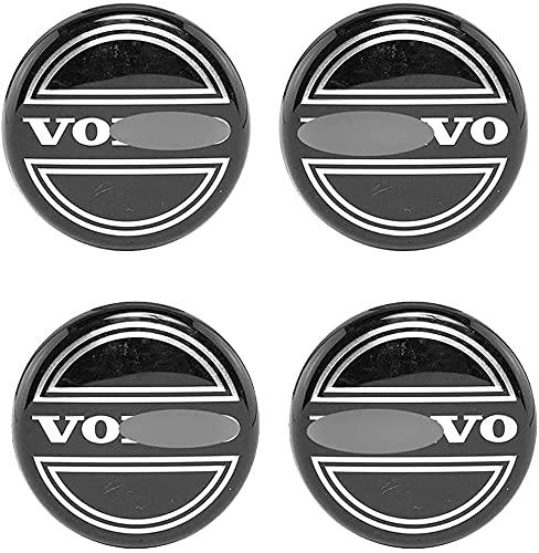4 Piezas Tapas centrales para llantas Para Volvo XC60 XC90 XC40 S90 S60 V40 V60 ,Aleación de aluminio Cubierta Centro Rueda Coche,Tapacubos Logo Insignia Tapa a Prueba de Polvo,Coche Accesorios,63mm