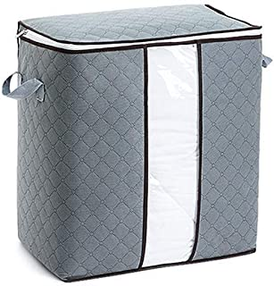 Sac de Rangement pour vêtements, Organisateur de ménage, Emballage de Bagages pour vêtements/Couette, Grande capacité, fen...