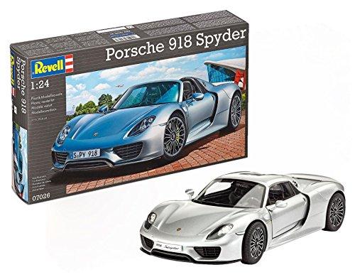 Revell Modellbausatz Auto 1:24 - Porsche 918 Spyder im Maßstab 1:24, Level 4, originalgetreue Nachbildung mit vielen Details, 07026