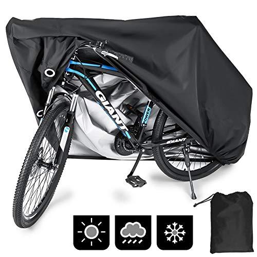 Phiraggit Funda Impermeable para Bicicleta para Exteriores, Oxford, 29 Pulgadas, a Prueba de Viento, UV, con Orificio de Bloqueo, Bolsa de Almacenamiento para Bicicletas de montaña y Carretera